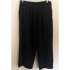 Soft Surroundings Pull On Wide Leg Black Pants
